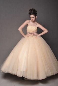 Fairytale Ball Gown Color Wedding Dress