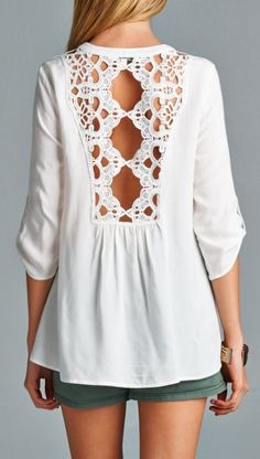 Delicate lace back