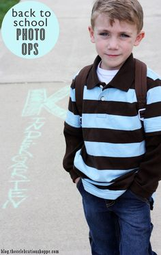 back to school photography ideas using simple sidewalk chalk and your driveway