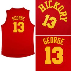 22c78c878 Aliexpress.com   Buy Paul George Hickory Jersey 2016 New Indiana 13 Paul  George Red Hickory Jersey Indiana Hoosiers Basketball Jersey from Reliable  jersey ...