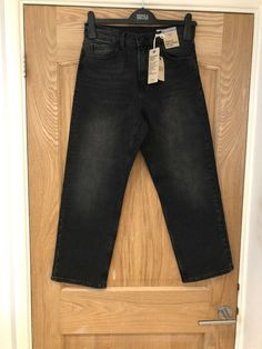 ac0c7560b01c7 New Black Straight Ankle Grazer Jeans From Marks And Spencers Size 8 R  #fashion #