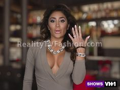 "#LHHHollywood's Nikki Mudarris' ""Green Screen/Confessional"" Interview Taupe V-Neck Dress"