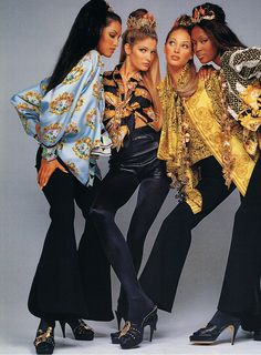 Fall/Winter '92-'93 Gianni Versace campaign, with Yasmeen, Stephanie & Christy