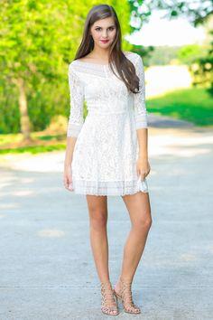 All My Lovin' White Lace Dress $54.00