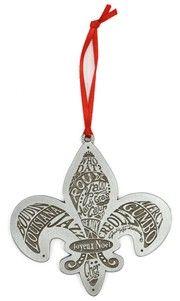 Louisiana fleur de lis ornament.