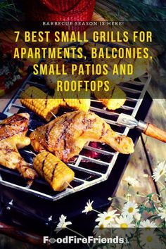 These small and compact grills ensure that just because you live in a small apartment doesn't mean you can't enjoy authentic grilling in your yard or on your balcony…Even if you live in a strict fire control area! So lets us show you how in this detailed article. Small Grill, Small Patio, Outdoor Grill Area, Outdoor Grilling, Grilling Recipes, Tandoori Chicken, Rooftop, Barbecue, Balcony