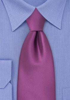 Solid Purple Solid Necktie @ Bows-n-ties.com