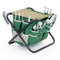 Amazon.com: SONGMICS 8 Piece Garden Tool Set Includes Garden Tote Folding Stool and 6 Hand Tools w/ Heavy Duty Cast-aluminum Heads Ergonomic Handles UGGS40L: Patio, Lawn & Garden http://amzn.to/2u5pYJ1