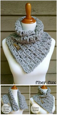I have made a big list of most beautiful, adorable and stylish #Crochet #Scarf #Pattern.All of these super unique and creative!Margaret Button Cowl