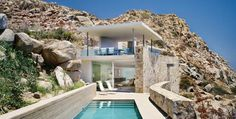 Casa Finisterra is located in Cabo San Lucas, Mexico, architecture: Steven Harris Architects, interior design: Rees Roberts + Partners. Houses Architecture, Interior Architecture, Minimalist Architecture, Cabo San Lucas, Modern House Design, My Dream Home, Exterior Design, Stone Exterior, Future House
