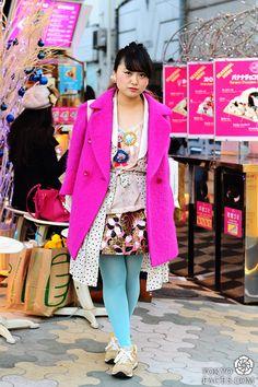 Name: Yuka  Coat: Vintage Top: Panacea Skirt: Manouche Shoes: New Balance Earrings: Panacea Bag: Theatre Products