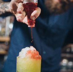 Hipster Snow Cone: Beer + Gin Craft Cocktail