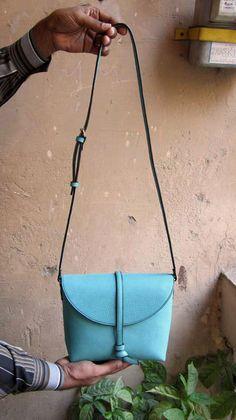 Aqua Little Stella, Chiaroscuro, India, Pure Leather, Handbag, Bag, Workshop Made, Leather, Bags, Handmade, Artisanal, Leather Work, Leather Workshop, Fashion, Women's Fashion, Women's Accessories, Accessories, Handcrafted, Made In India, Chiaroscuro Bags - 3