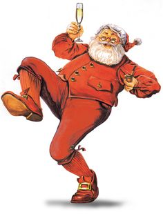 #Santa Claus oil painting