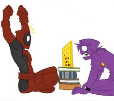 I'm putting this in Humor because I don't know whether to put this in FNAF or in Marvel. XD