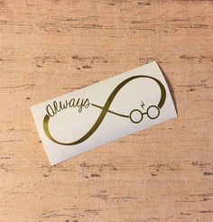 Always Infinity Harry Potter Decal by PixieRainCompany on Etsy