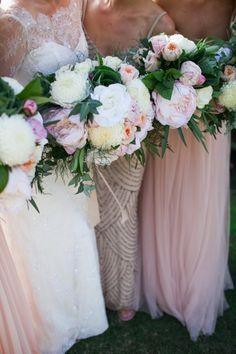 Full blooms and gorgeous dresses: http://www.stylemepretty.com/australia-weddings/western-australia-au/2015/07/17/elegant-perth-wedding/ | Photography: Amelia Claire - http://www.ameliaclairephoto.com/