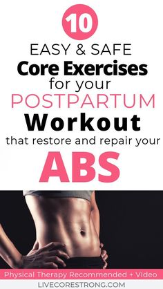 Here you will find the most effective and safest exercises to perform postpartum. - Here you will find the most effective and safest exercises to perform postpartum (week 6 and later) - Postpartum Workout Plan, Mommy Workout, Postpartum Recovery, Core Workout Routine, Workout Challenge, Fitness Tips, Fitness Motivation, How To Get Abs, Diastasis Recti
