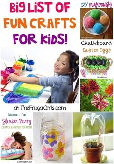 Big list of fun craft things for the children to do... Summer holiday's are coming up soon :-/