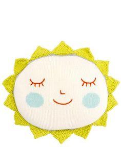 Knit Sun Pillow