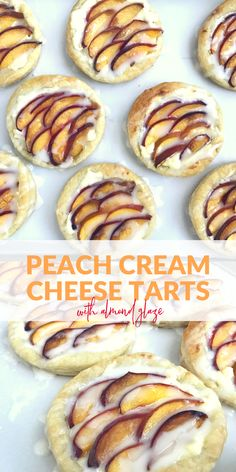 These peach cream cheese tarts are perfect for brunch or a sweet dessert.