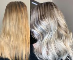 Get the details for this makeover, after the client - in an effort to save money - went to a friend to add some warmth. Gold Blonde Hair, Warm Blonde, White Blonde, Gold Hair, Hear Style, Hair Fixing, Hair Affair, Hairline, Cut And Color