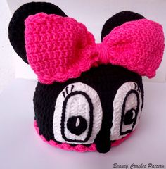 Crochet Pattern Hat Miss Bow Mouse Minnie by BeautyCrochetPattern