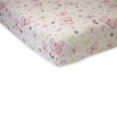 NoJo® Butterfly Love Crib Sheet - BedBathandBeyond.com