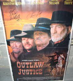 Original one-sheet movie poster - SIGNED by Willie Nelson & Travis Tritt C. 1999 $125