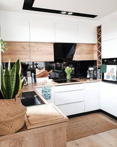 Kitchen Cupboard Designs, Kitchen Room Design, Modern Kitchen Cabinets, Home Decor Kitchen, Interior Design Kitchen, Home Kitchens, Open Plan Kitchen Living Room, Scandinavian Kitchen, Küchen Design