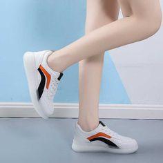 Women's #white black casual shoe #sneaker stripe design Black Shoes Sneakers, Black Casual Shoes, Striped Shoes, Sneakers Nike, Color Stripes, Stripes Design, Running Shoes, Sport, Fashion