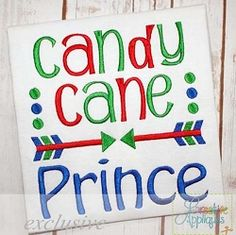 Candy Cane Prince - 3 Sizes!   What's New   Machine Embroidery Designs   SWAKembroidery.com Creative Appliques