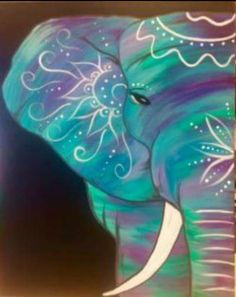 BoHo elephant. Corky Canvas. Lincoln, NE
