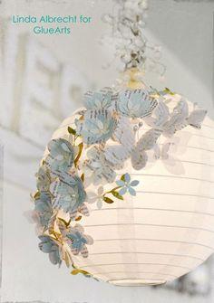 Embellished Paper Lantern - loving this idea!