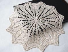 Lace doily cream color linen round crochet doily handmade crochet doilies coasters. $8.00, via Etsy.