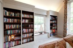 boekenkast wit met kersen bookcase painted white and cherry library bookshelves bookcases cozy
