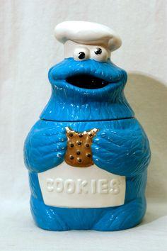 Vintage Cookie Monster Cookie Jar Muppets Inc Sesame Street Jim Henson Cookie Monster, Cookie Jars For Sale, Jar Jar, Antique Cookie Jars, Vintage Cookies, Jim Henson, Cute Cookies, Cookies Et Biscuits, Decoration