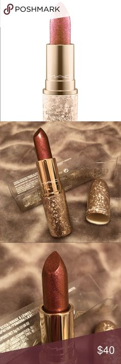 "M•A•C Holiday 2017 'Shimmer & Spice' Lipstick Authentic MAC, from the 2017 Snow Ball Holiday Collection. Get it here before it's available in stores! ""Shimmer & Spice"" Frost Lipstick (shimmering burgundy-red). Never used or swatched. MAC Cosmetics Makeup Lipstick"