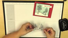 White Christmas card with Blendabilities