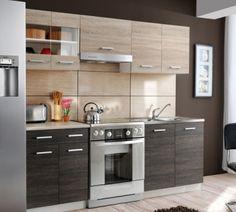 Kuchyňa - Tempo Kondela - Adamo-Lara, ktorá krásne kombinuje dva druhy dreva :)