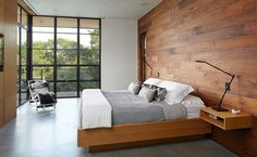 20 Stunning Bedrooms with Wooden Wall Panels