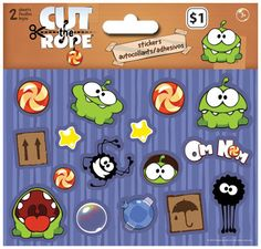 Cut the Rope Stickers - Trends International