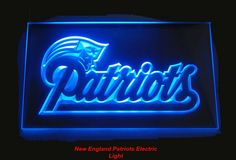 """New England Patriots Light - $39.00 • Solid state technology Simply plug it in and behold a beautiful lighted glowing sign for displaying in your window, Man Cave, Dorm, Bar, Home, Restaurant etc. • Logo and all four sides light as you can see in image – Awesome! • Solid state no batteries or bulbs needed. • Size: W 12""""x H 9""""  • We accept all Major Credit cards, PayPal, Money orders, • We only sell from our website • We offer no pick-ups: Go to: Sportsworldwest.com"""