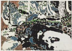 David Brown Milne Canadian, Limestone Rocks, 1916 gouache, graphite on paper x cm Canadian Painters, Canadian Artists, Figure Painting, Painting & Drawing, Abstract Landscape, Landscape Paintings, David Milne, Winnipeg Art Gallery, Limestone Rock