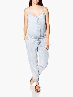 Love, love, love this Makers of True Originals Denim Maternity Jumpsuit! Need it!