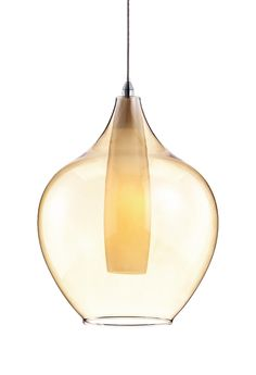Kuzco 440801 – Single Lamp Amber or Clear Pendant with Frosted Inner Glass