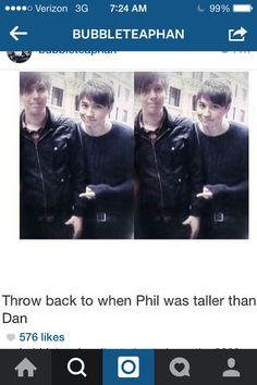 Omg, Phil was actually taller tha Dan??????