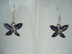 Sterling silver iolite butterfly http://www.houseofaudrey.co.uk/dangle-earrings/137-sterling-silver-iolite-butterfly-earrings.html