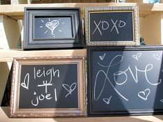 Clever Crafts and Decor Ideas Using Chalkboard Paint  ..im OBSESSED with this chalkboard paint idea i just discovered!! soooo many possiblities and its cheap and easy too! :-)
