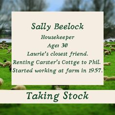 Taking Stock: Sally Beelock ⁠ Sally is the housekeeper at Webber's Farm. She's Laurie's best friend, almost a sister. She has Opinions. books2read.com/takingstocklester or links in bio ⁠ ⁠#GayRomance #MMRomance #Disability #HurtComfort